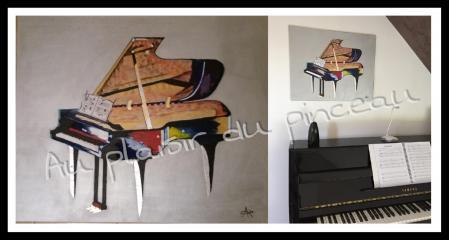 Piano, acrylique
