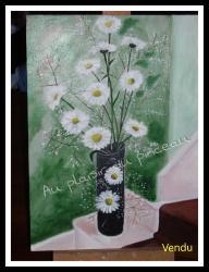 Marguerites, acrylique