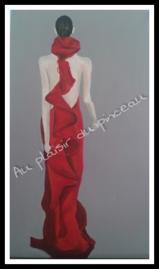 Robe rouge, acrylique