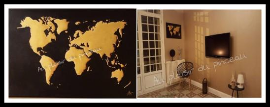 Le monde, acrylique