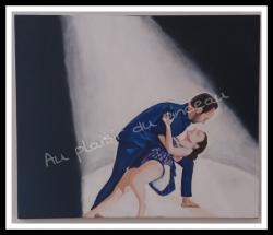 Couple en lumière, acrylique
